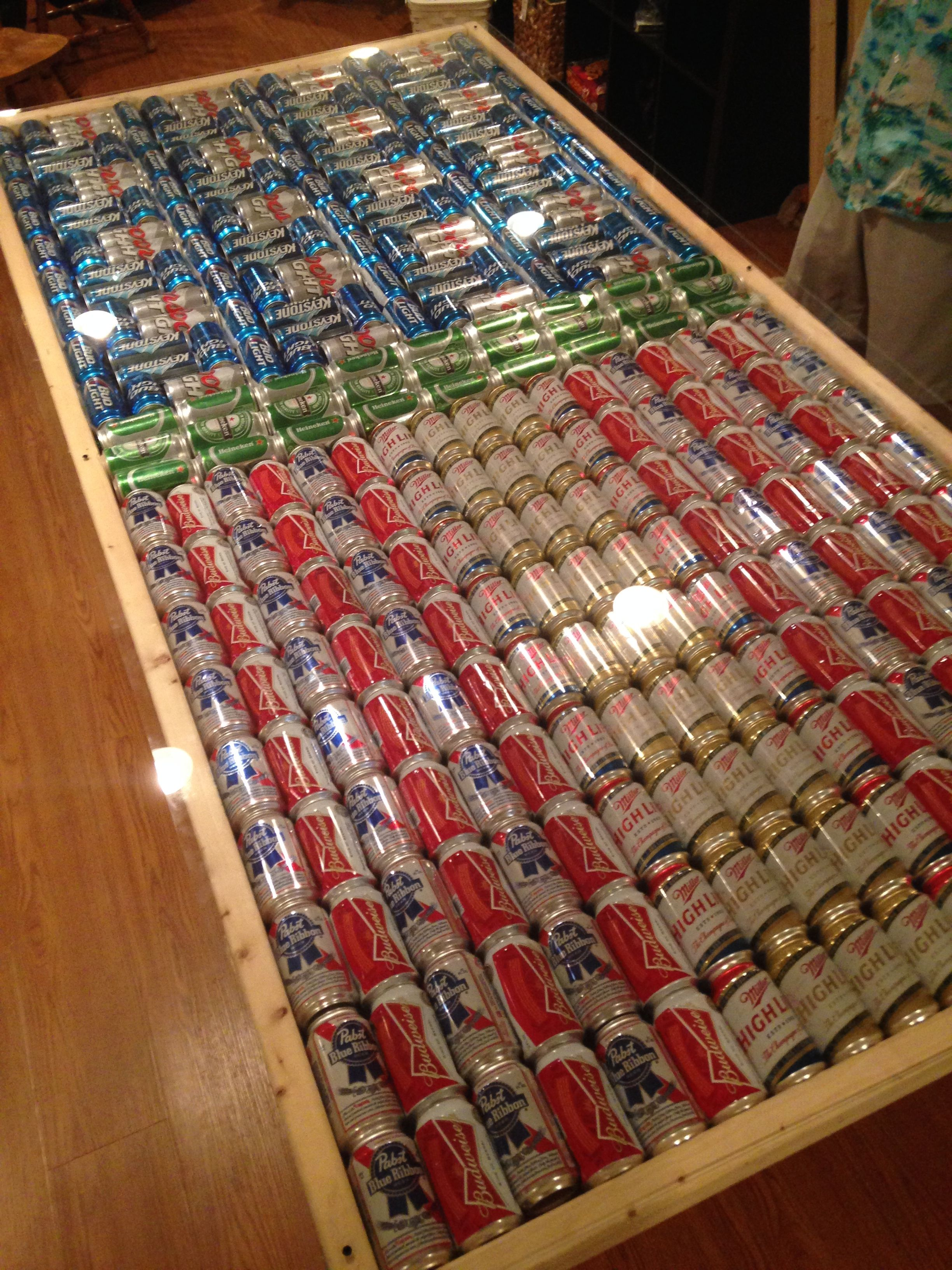 Beer pong table made out of bottle caps ladbible