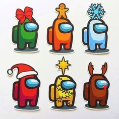 Among Us Christmas Holiday Edition Sticker Pack