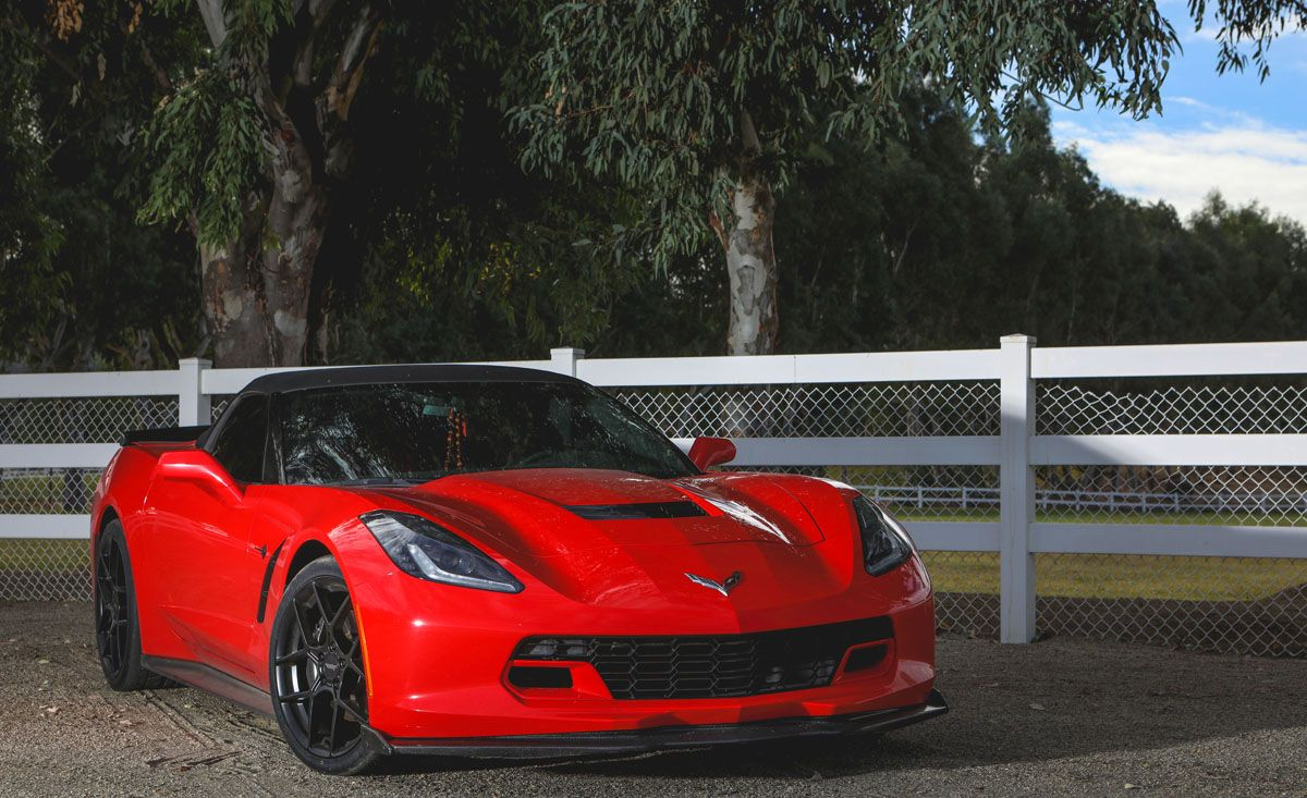 Chevy Corvette w/ 20″ Staggered American Racing AR924