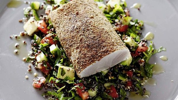 Pete evans kingfish with avocado tabbouleh from healthy every day pete evans dinner spicy kingfish with avocado tabbouleh from his book healthy every day serves theres also a nice recipe for fish tagine here forumfinder Choice Image
