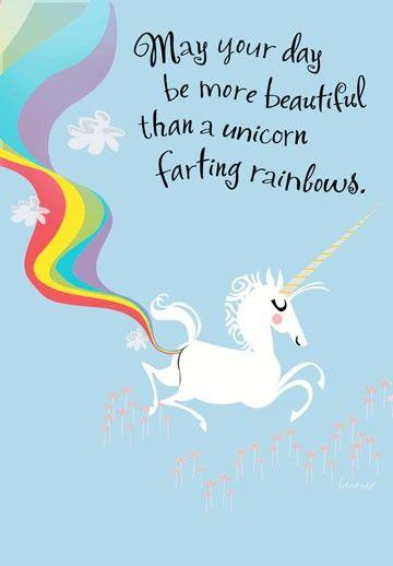 Drôle Licorne Poo Personalised BIRTHDAY CARD