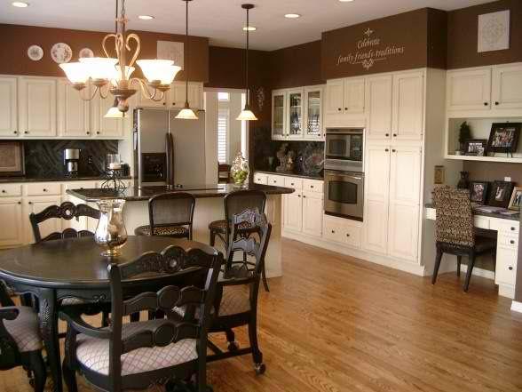 Best Kitchen Benjamin Moore Walls Rockies Brown Cabinets 400 x 300