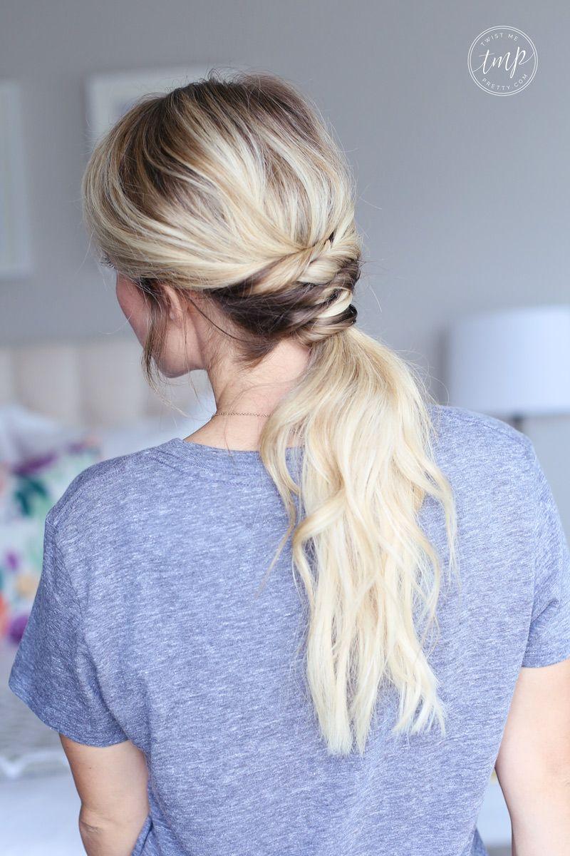 Twisted Ponytail Haiir Hair Styles Easy Hairstyles Hair