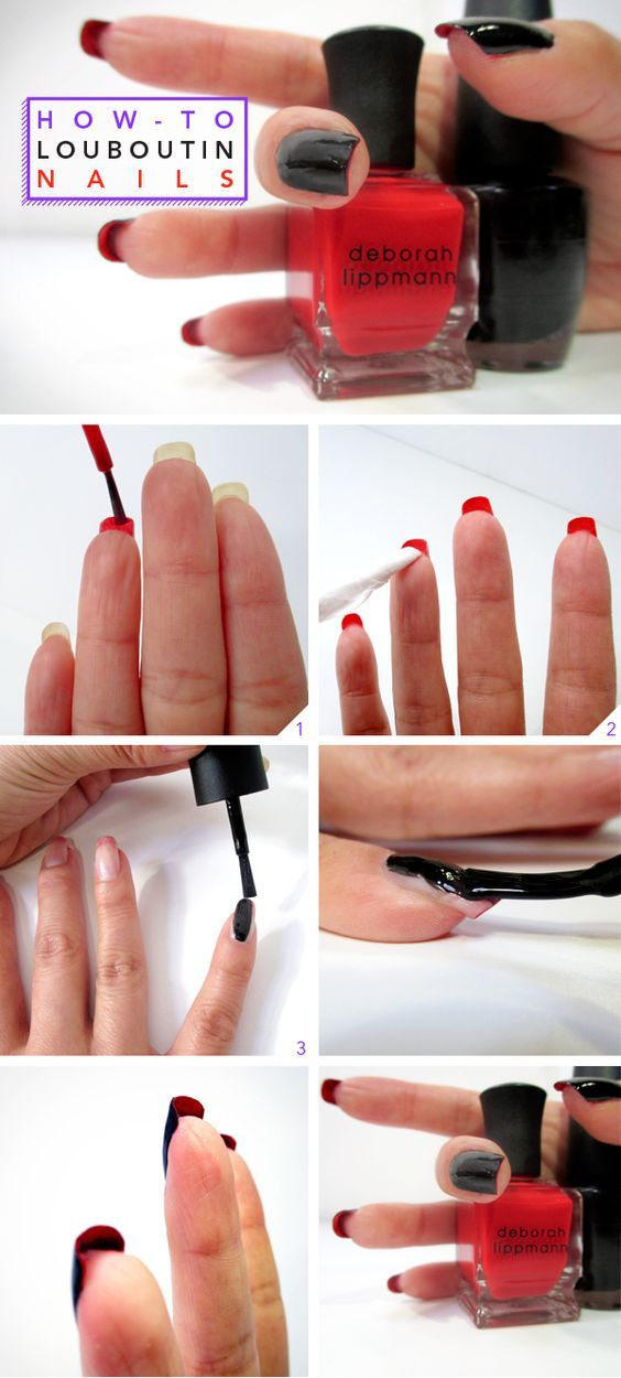How-To: Christian Louboutin-Inspired Nails | Pinterest | Makeup ...