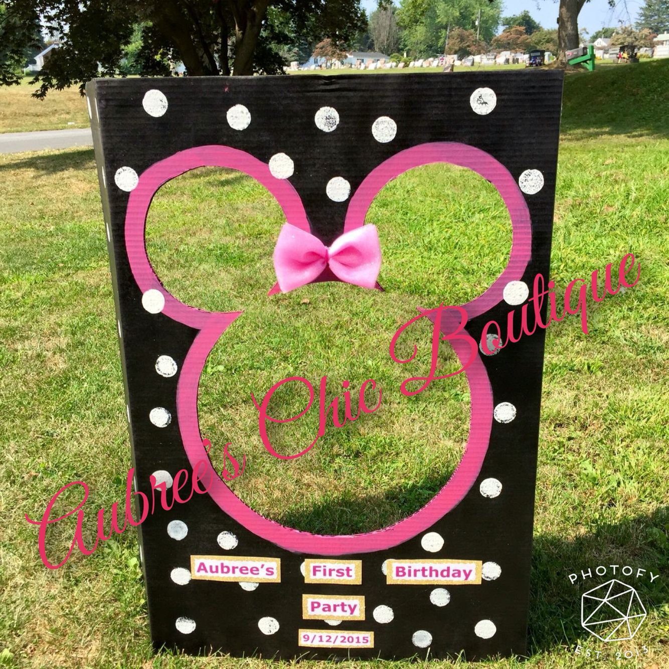 minnie mouse party decor photobooth aubree 39 s chic boutique crafts handmade crafts crochet. Black Bedroom Furniture Sets. Home Design Ideas