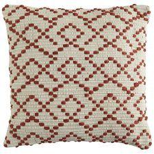 Woven Geometric Pillow  - Spice