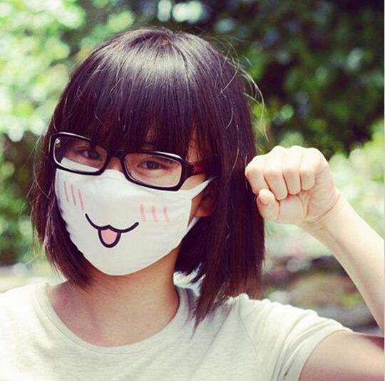 Cute 1PC Cute Anime Emotiction Mouth-muffle Kaomoji Anti-Dust Face Mask Kawaii