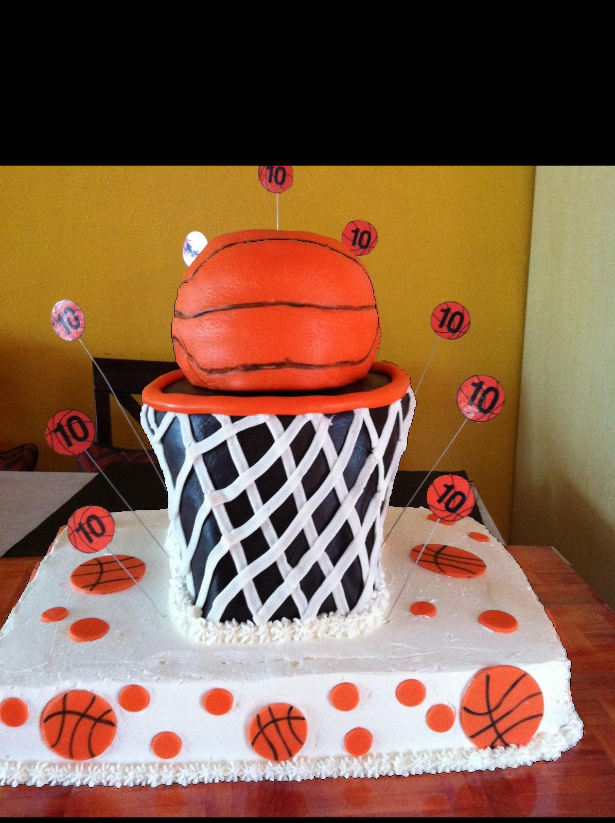 Whipped Cream Fondant Basketball Cake Basketball Cake Party Cakes Cake