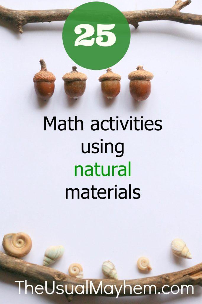 25 math activities using natural materials math activities for kids preschool math math. Black Bedroom Furniture Sets. Home Design Ideas