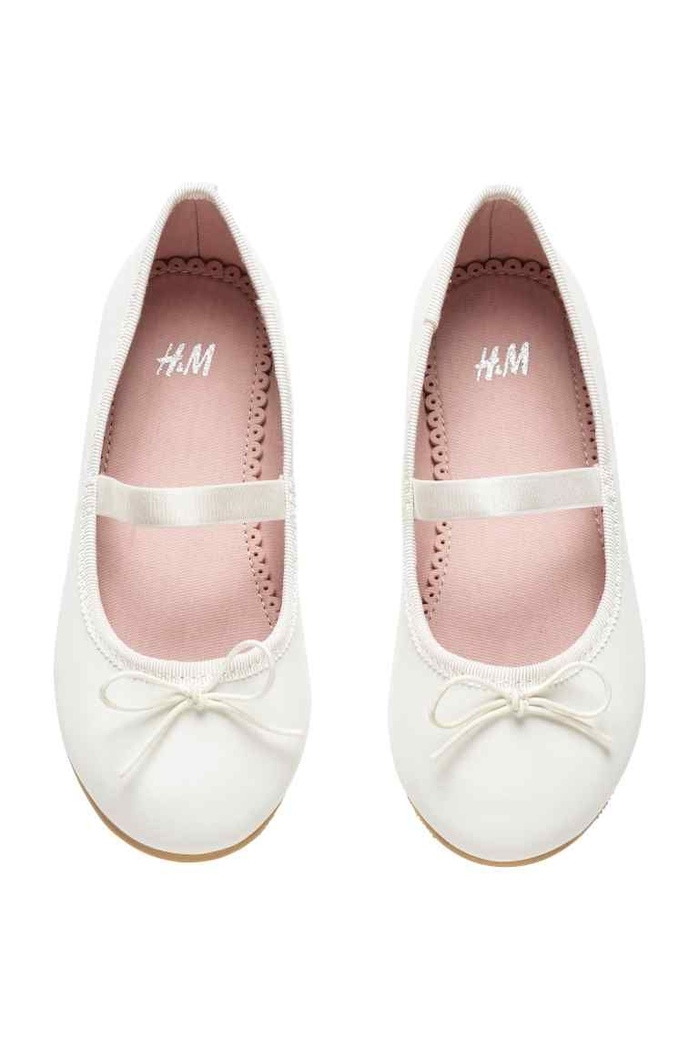 Ballet pumps with strap | Flower girl