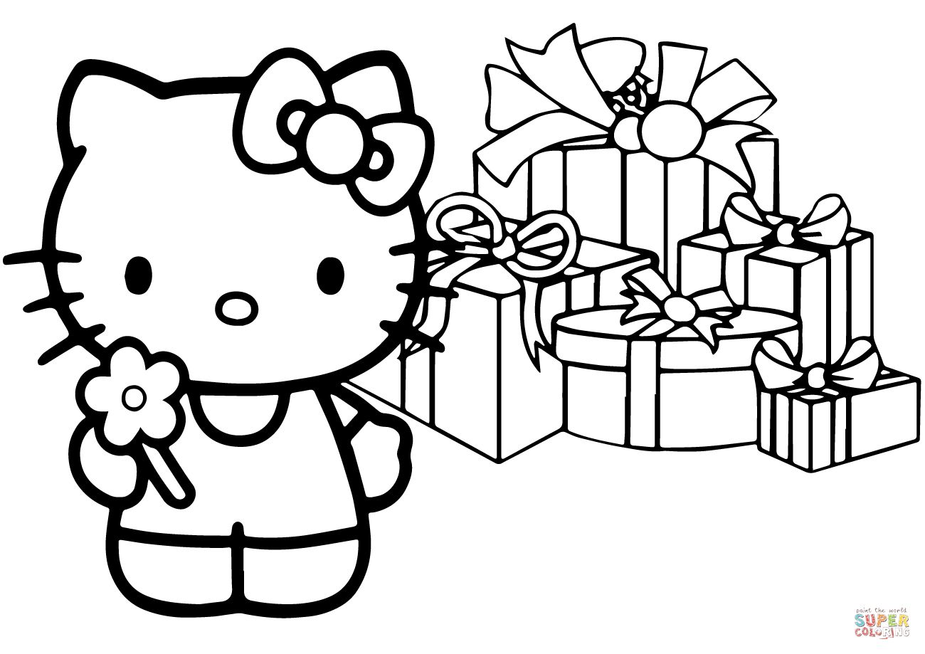 Interactive Magazine Hello Kitty Christmas Coloring Sheets Hello Kitty Coloring Kitty Coloring Hello Kitty Colouring Pages