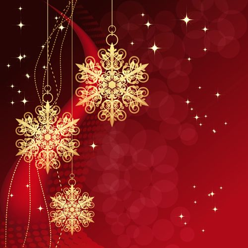 Christmas snowflake baubles background vector vector for Clipart natale free download