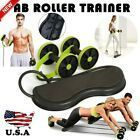 Abs Roller Abdominal Trainer Fitness Exercise Workout Machine for Home Gym #Fitness #abexercisemachi...