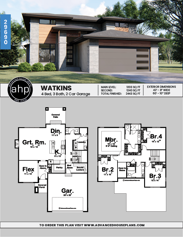 Watkins 2 Story Modern Prairie House Plan Prairie Style Houses