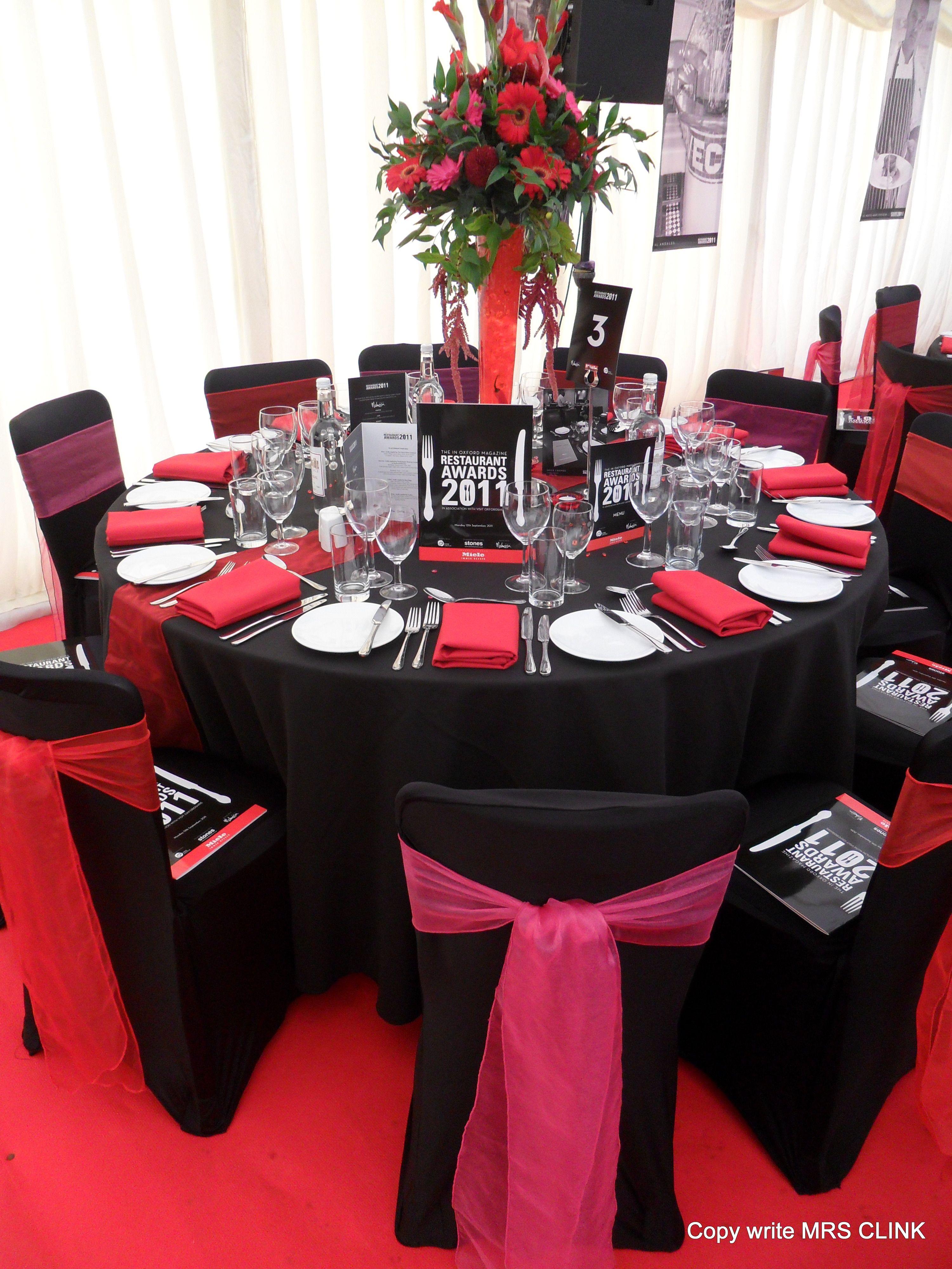 Restaurant Awards Styled By The Award Winning Venue Decor