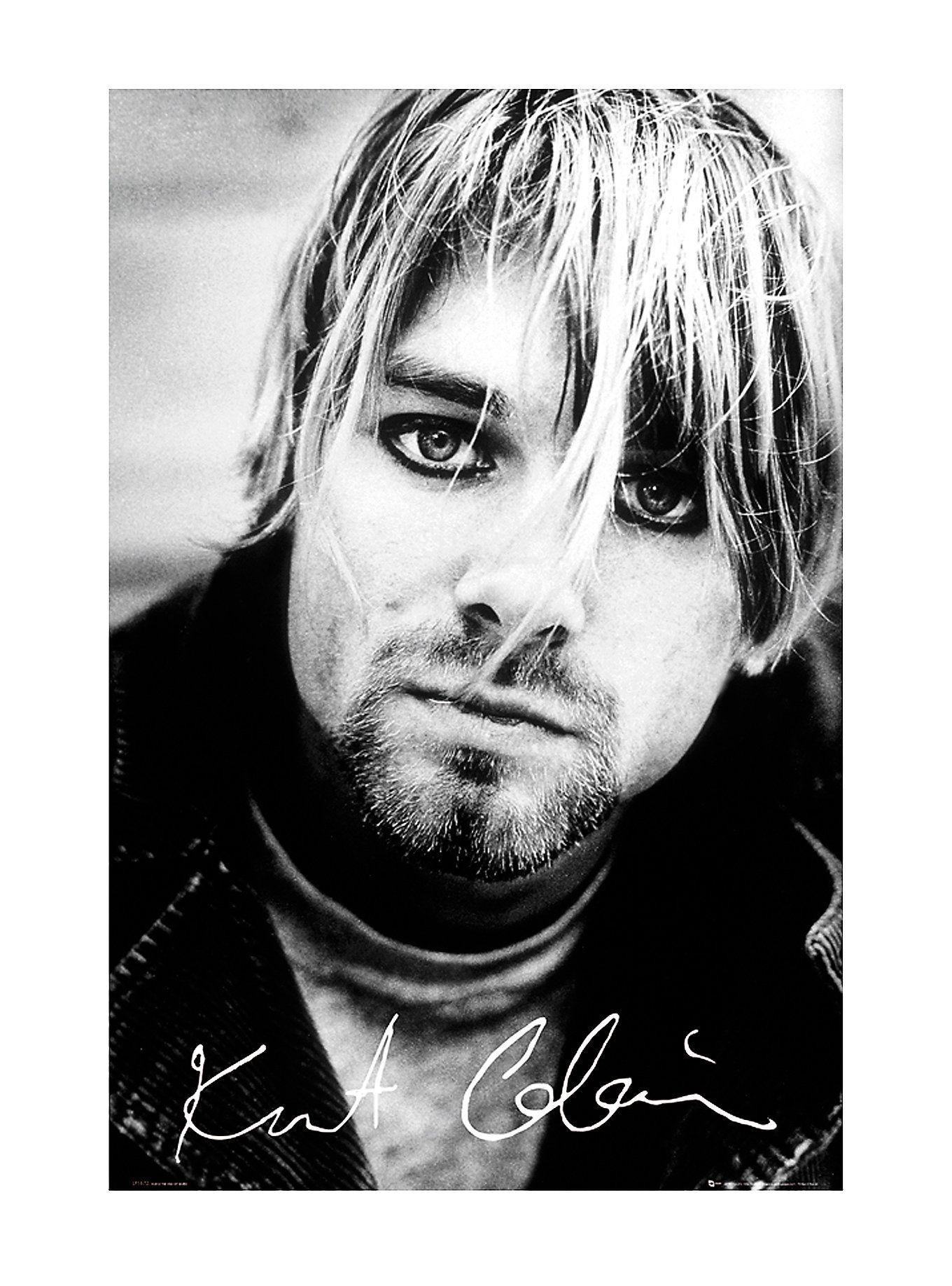 Nirvana Kurt Cobain Face Poster | Hot Topic | Band Merch | Pinterest
