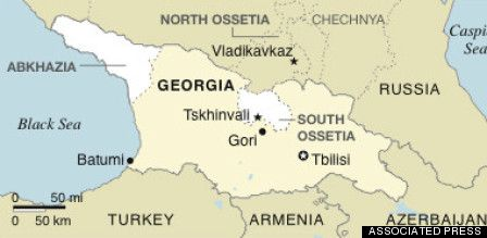 Why The World Map Looks Different To Russians South Ossetia - Georgia map ukraine