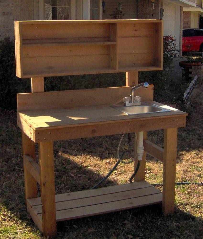 Details about NEW 4FT BIG ALL CEDAR POTTING BENCH GARDENING BENCHES ...