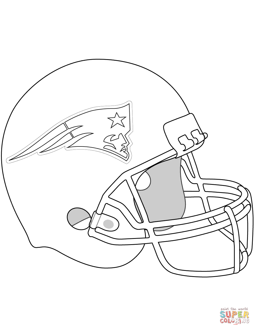 New England Patriots Helmet Coloring Page From Nfl Category Select From 28148 Printab Football Coloring Pages New England Patriots Helmet New England Patriots