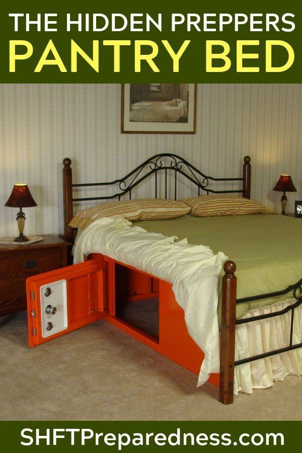 How To Build A Preppers Pantry Bed How To Build A