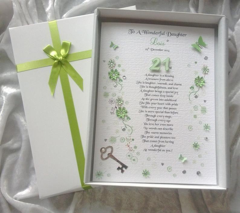 Luxury Daughter 18th 21st Birthday Card Handmade Personalised Etsy In 2021 Birthday Verses 21st Birthday Cards Birthday Cards