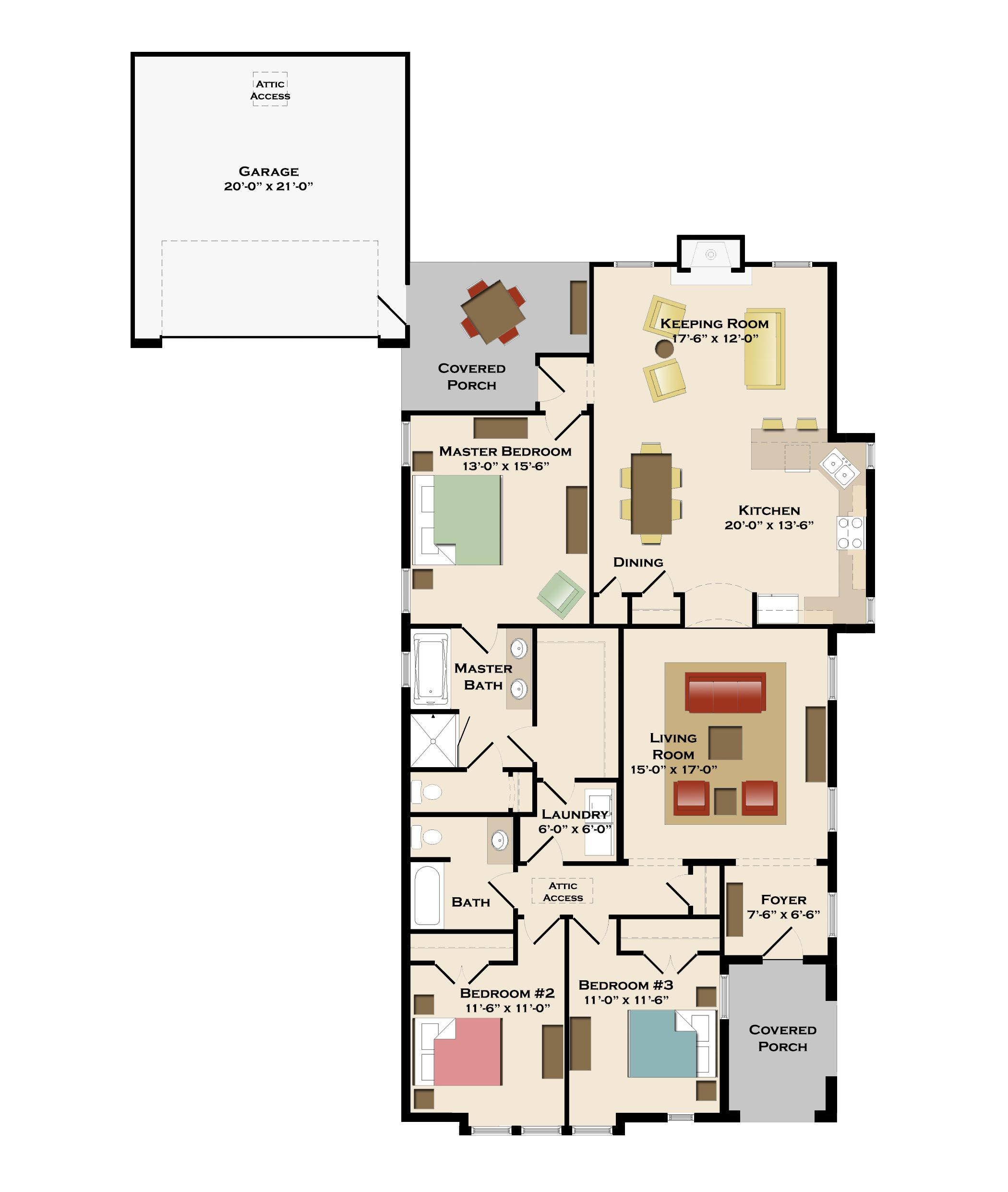 Fairfax A Home Plan in Cypress Point, Alabama Harris