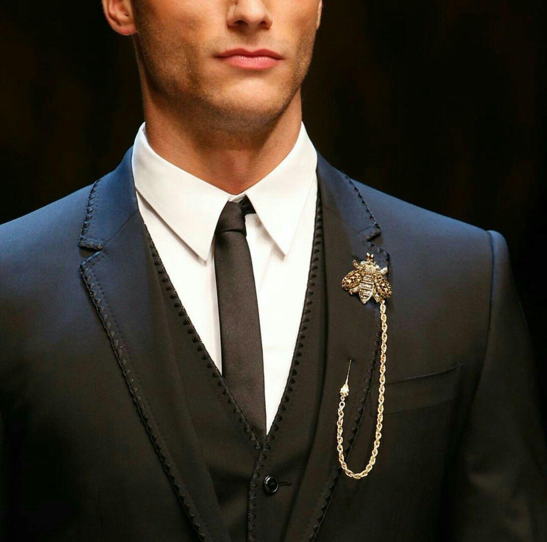 64eced437b24 Dolce Gabbana DG Man DG Sicilian Western business suit lapel pin ...