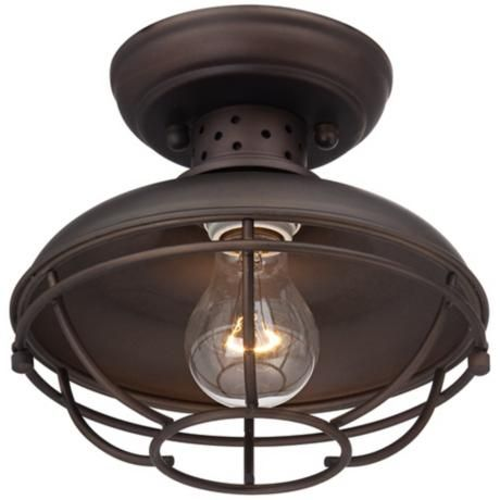 Franklin Park 8 1 2 Quot Wide Bronze Caged Outdoor Ceiling