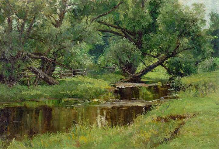 HUGH BOLTON JONES POSTER River Landscape Art Print