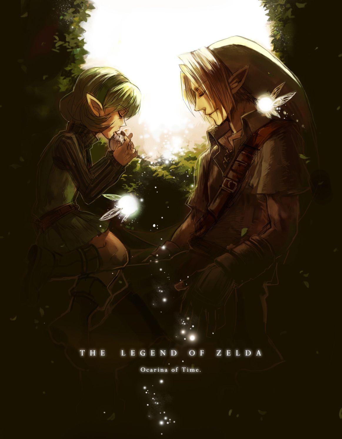 Legend of Zelda Ocarina of Time Saria Art Card by kevinbolk on ...