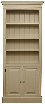 Edwardian Style Open Bookcase Cupboard Bookcase Open Bookcase Blue Rooms