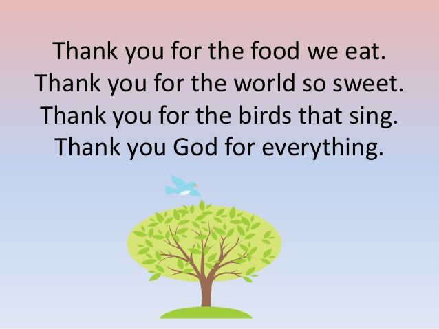 Thank You God Prayer For The Food We Eat