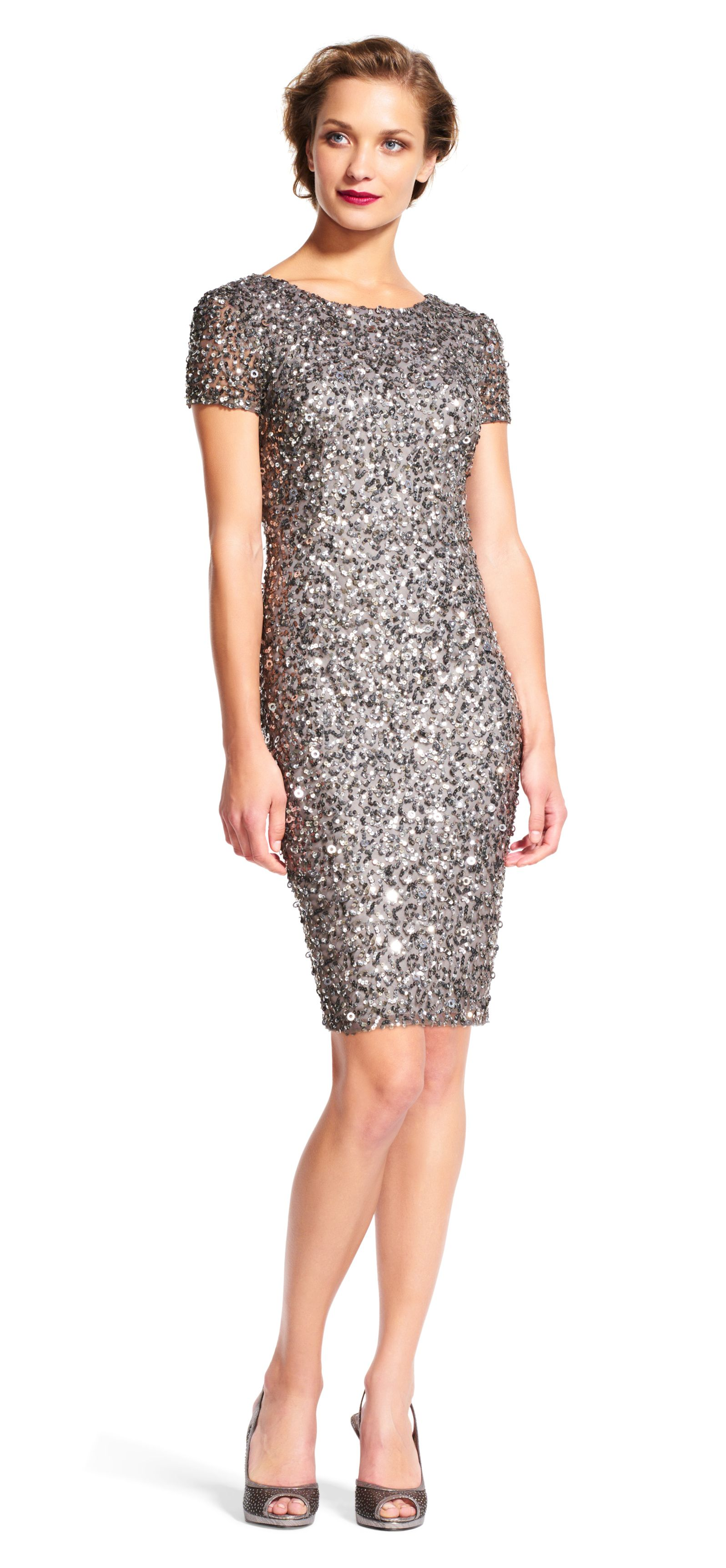 f8f2c770271 Adrianna Papell beaded cocktail dress