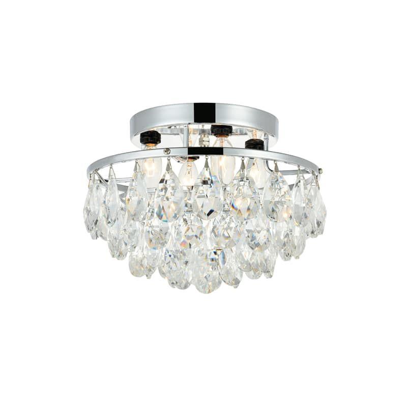 Elegant Lighting Ld9805f14 872 Clara 4 Light 14 Wide Semi Flush
