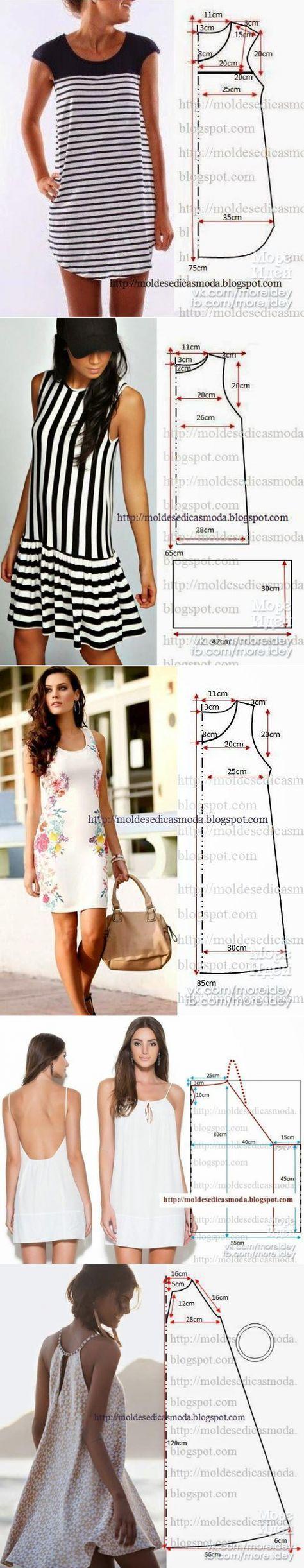 Kleider | Diy | Pinterest | Pines populares, Costura y Patrones