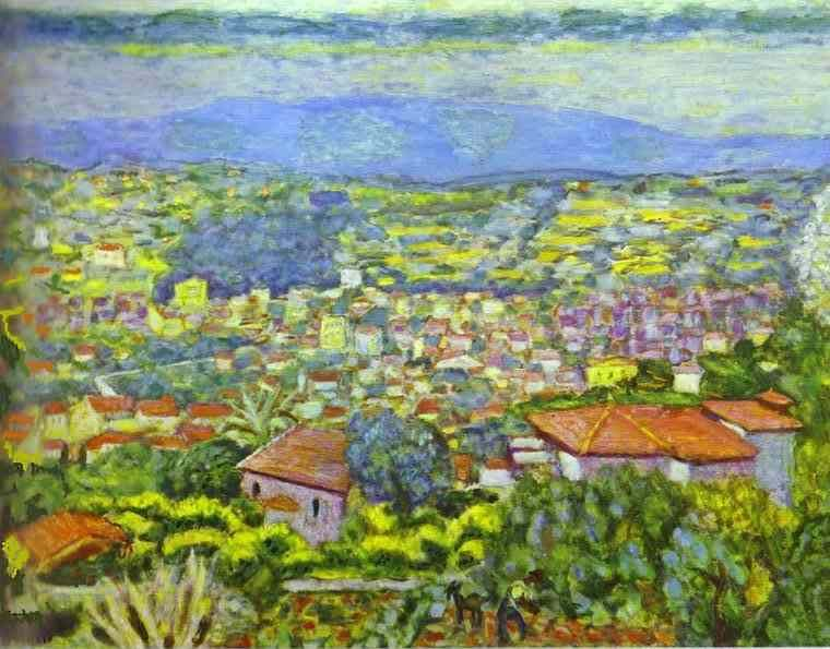 View of Le Cannet, Roofs by Pierre Bonnard