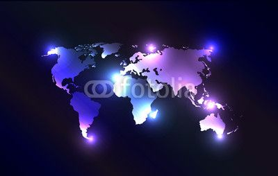 Vector worldmap with laser lights wall mural pixers we live to vector worldmap with laser lights gumiabroncs Choice Image