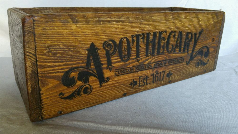 Handmade Vintage Style Apothecary Wood Crate Storage Decorative ...