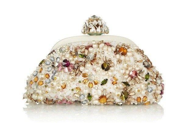 Clutch bag con perle e pietre preziose Dolce e Gabbana ...