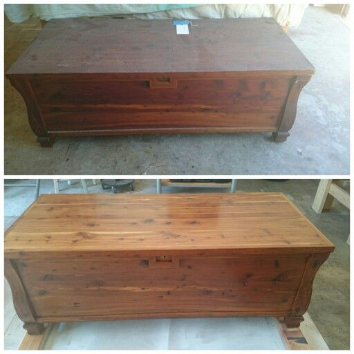 Refinished Refurbished Antique Cedar Chest Circa 1900 The
