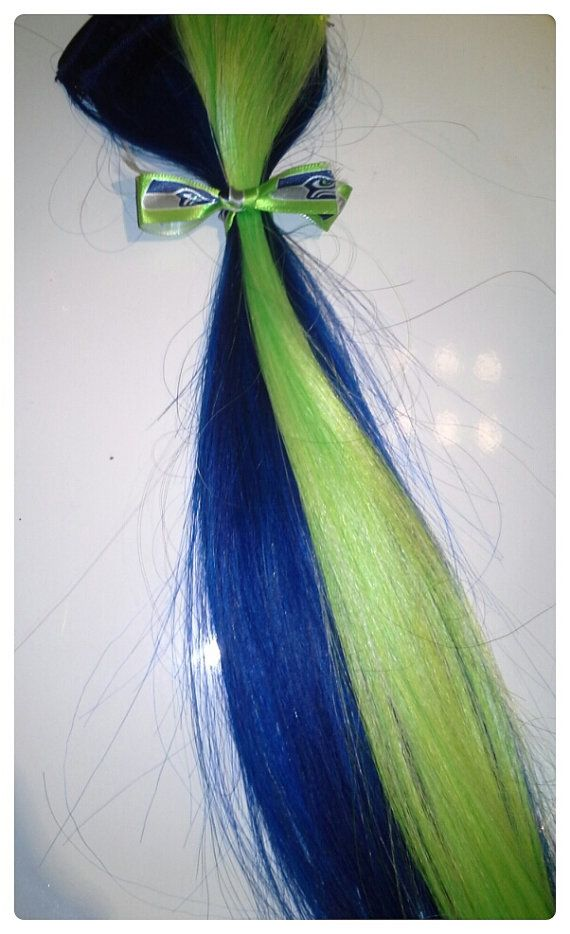 Easy Clipin Hair Extensions By Hawkslawks On Etsy 850 Seahawks