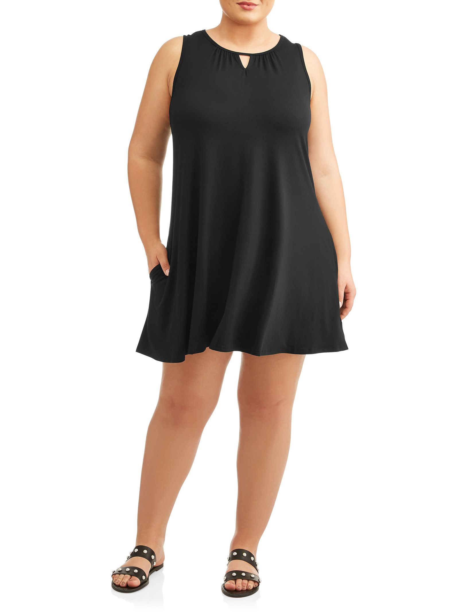 27 Cute Pieces Of Clothing From Walmart For People Who Only Wear Black Sleeveless Knit Dress Knit Dress Womens Sleeveless Dress [ 2133 x 1600 Pixel ]
