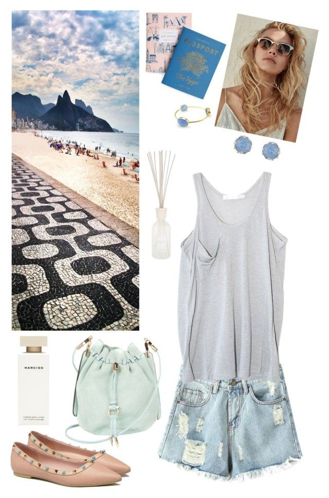 """Summer I Love You"" by tamo-kipshidze on Polyvore featuring Chicnova Fashion, Kain, Rifle Paper Co, Culti, Accessorize, Salvatore Ferragamo and Narciso Rodriguez"