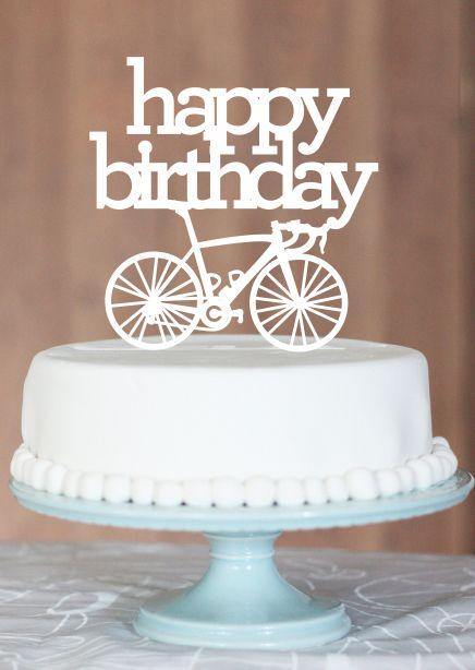 Hbd Bicycle Cake Happy Birthday Bicycle Birthday Greetings