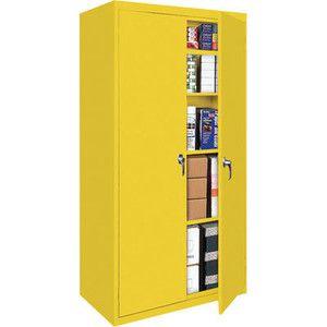 metal storage cabinet yellow