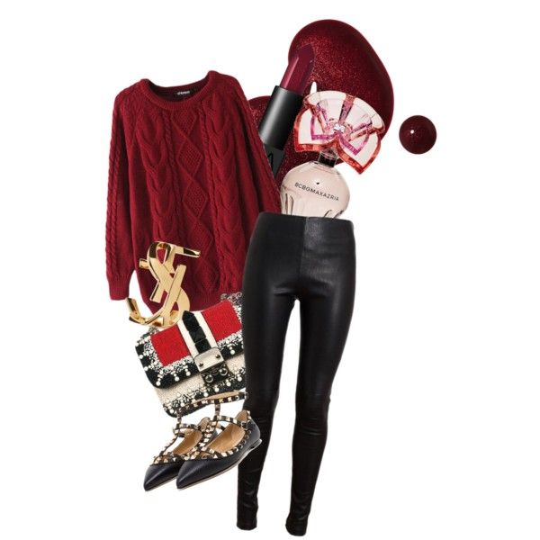 A fashion look from January 2015 featuring Chicnova Fashion sweaters, Balenciaga leggings and Valentino flats. Browse and shop related looks.