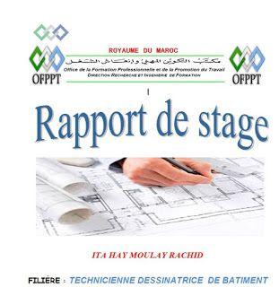 Rapport De Stage Dessinateur Batiment Exemple De Rapport Modele De Contrat Rapport