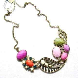 Colorful Mediterranean amorous feelings sense necklace $14.9