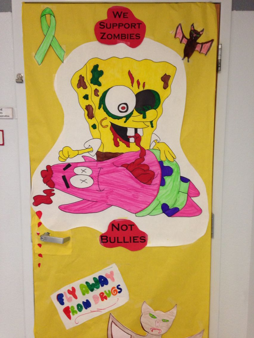 Red ribbon week door decorating idea support zombies not bullies red ribbon week door decorating idea support zombies not bullies anti bullying vtopaller Choice Image