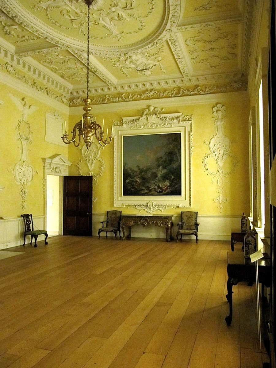 LONG VIEW: THE INTACT 18TH CENTURY DINING ROOM FROM KIRTLINGTON PARK ...